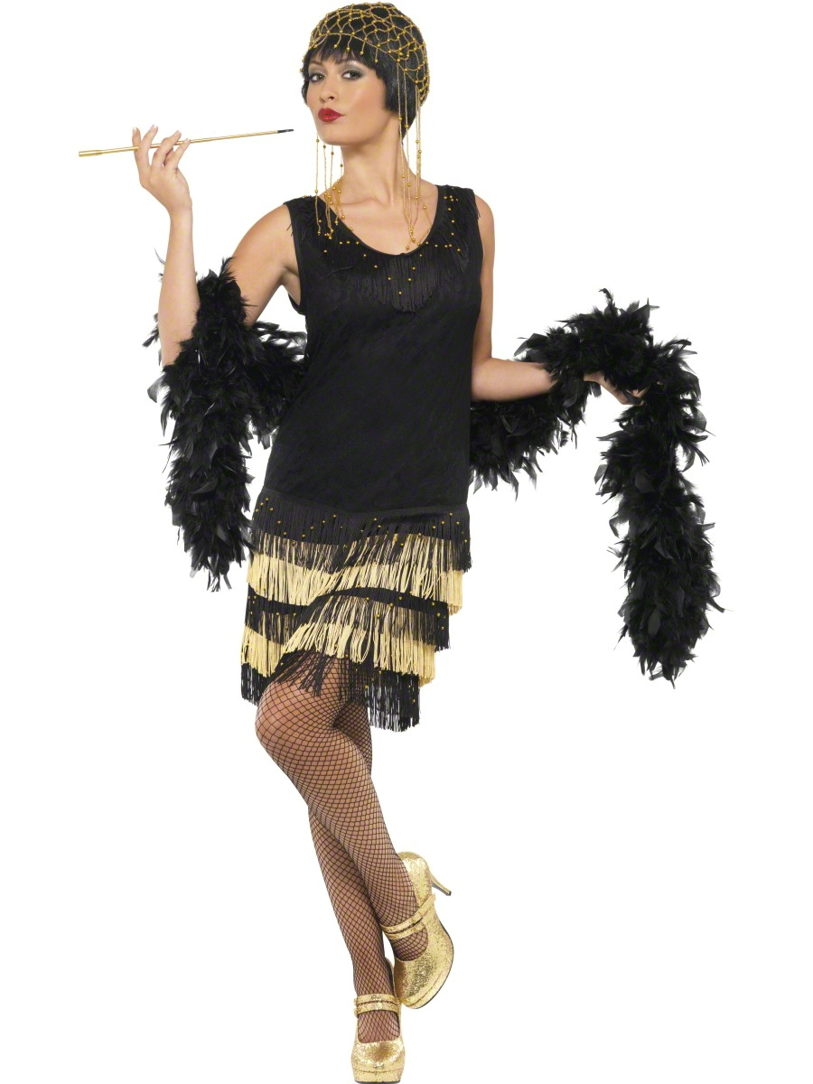 Adult 1920's Fringed Flapper Costume - 33676 - Fancy Dress ...