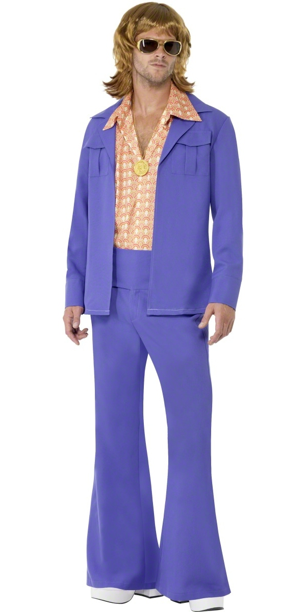 Leisure suit deluxe purple costume