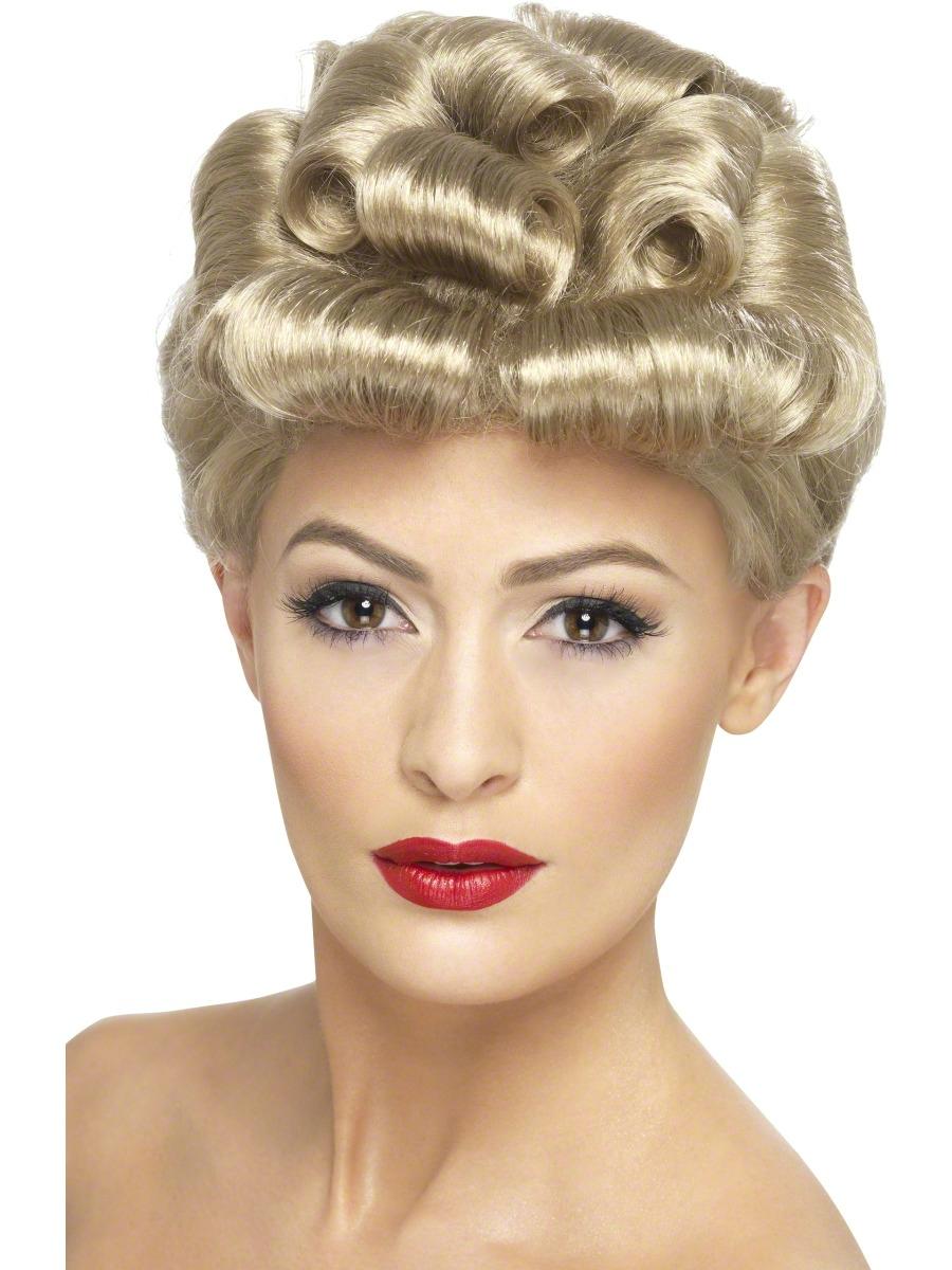 40s Vintage Wig 29608 Fancy Dress Ball
