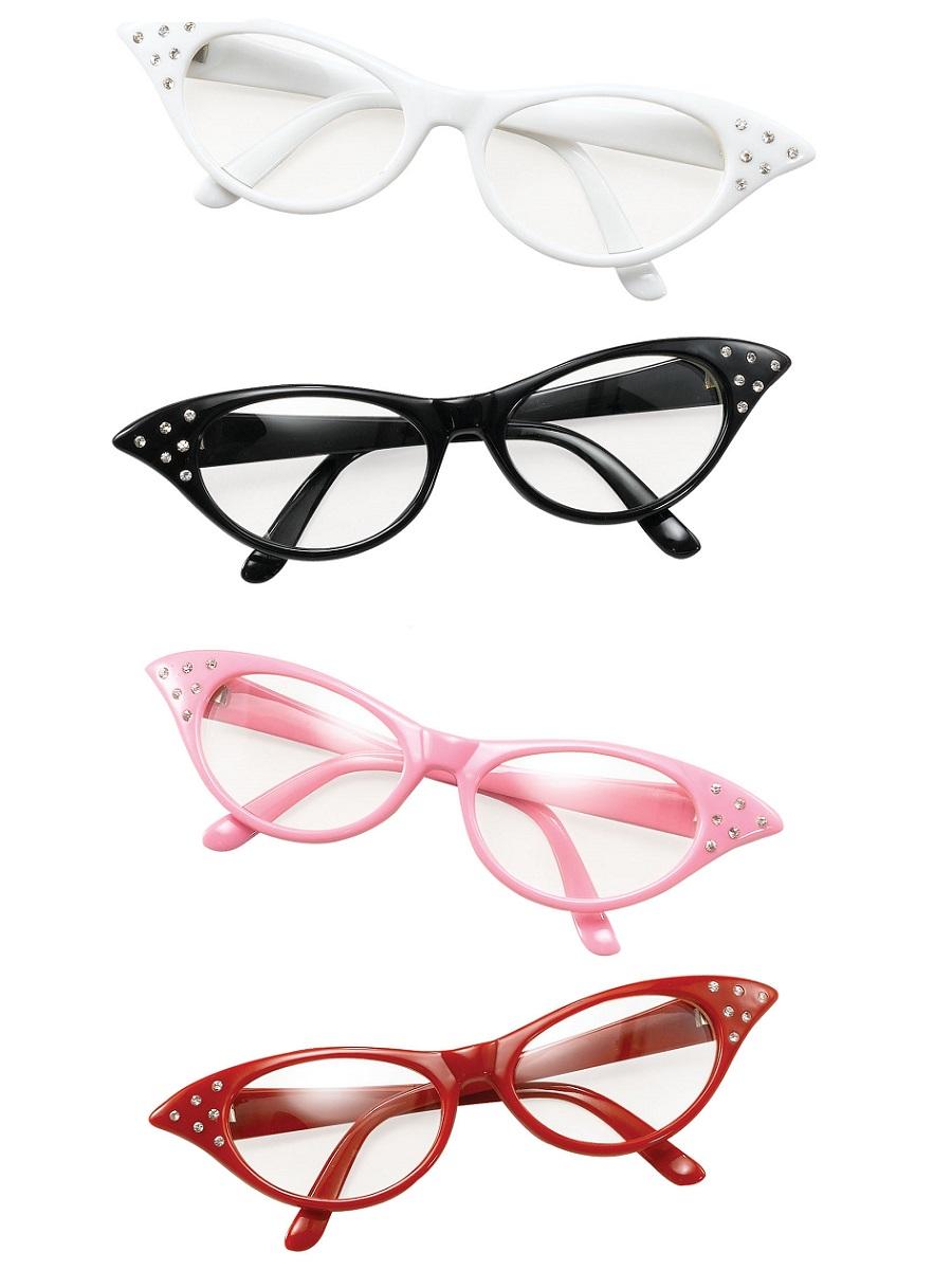 acd6672b4c 50s Flyaway Glasses - BA142 - Fancy Dress Ball