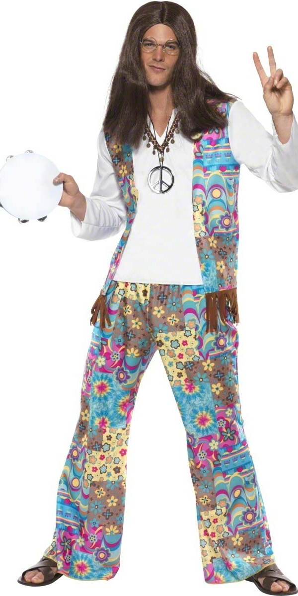 Adult 60 Mens Hippie Costume