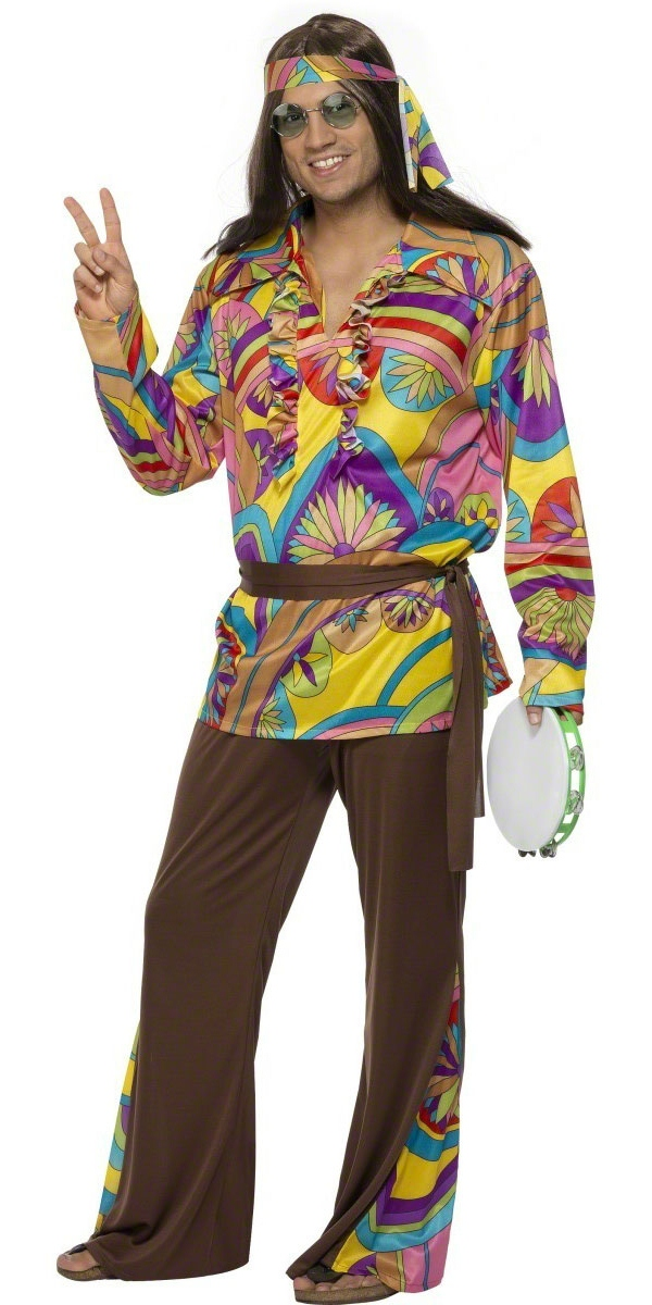 adult 60 39 s psychedelic hippy costume 32032 fancy dress ball. Black Bedroom Furniture Sets. Home Design Ideas