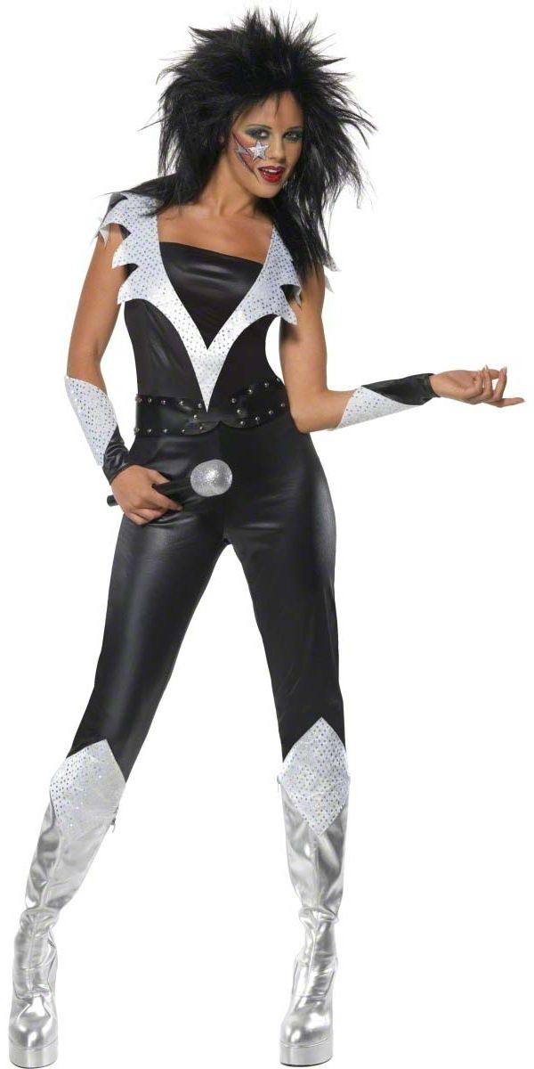 Adult 70 39 s glam rock chick costume 39344 fancy dress ball for Rockabilly outfit damen