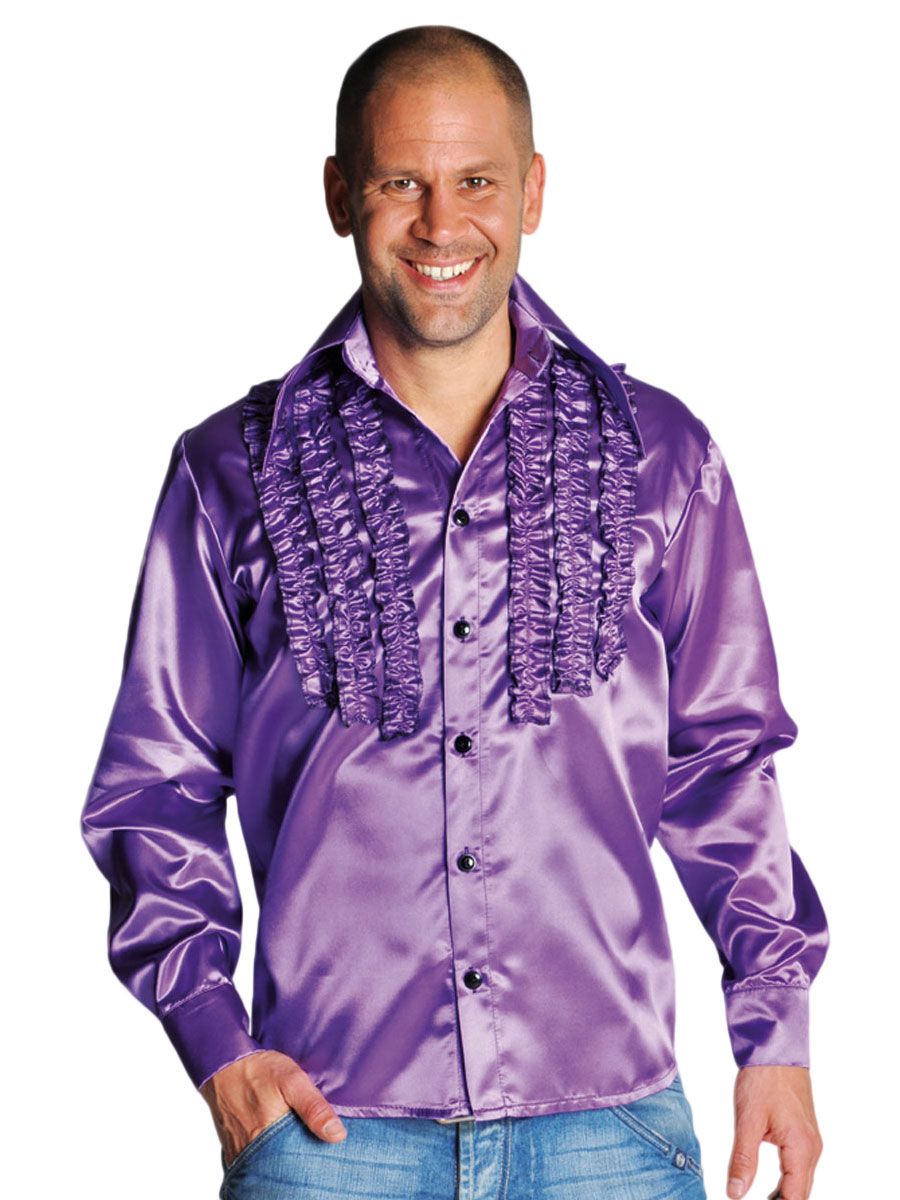70 39 s mens frilled purple satin shirt 210241 10 fancy for Mens dress shirts uk