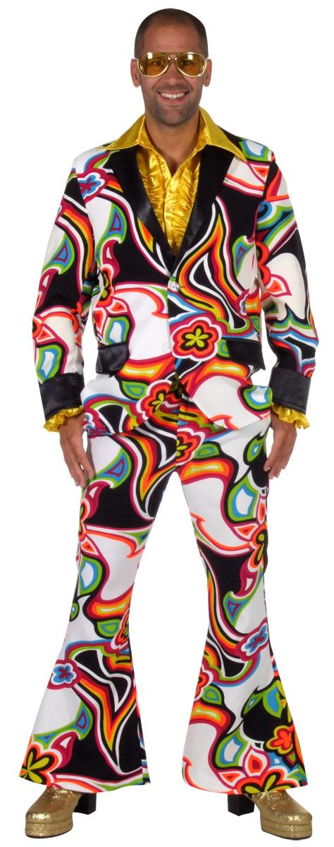 70s Mens Liquid Design Suit 205228 Fancy Dress Ball