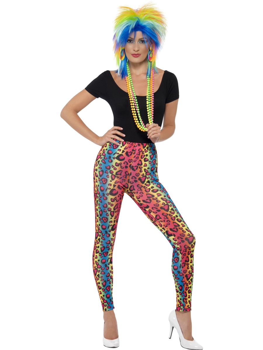80s neon leopard print leggings 26673 fancy dress ball for 90er party outfit