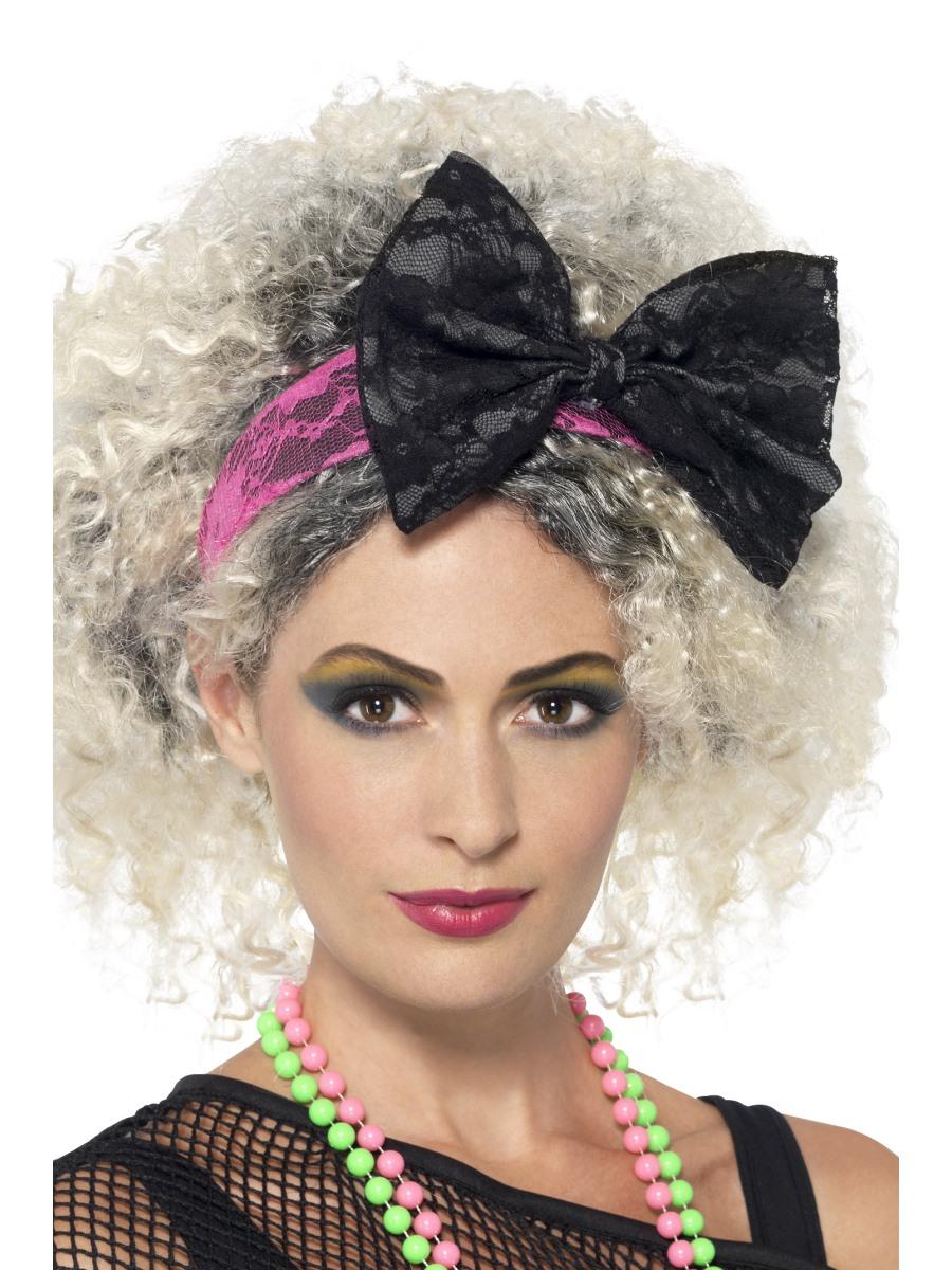 80s Lace Headband 41579 Fancy Dress Ball