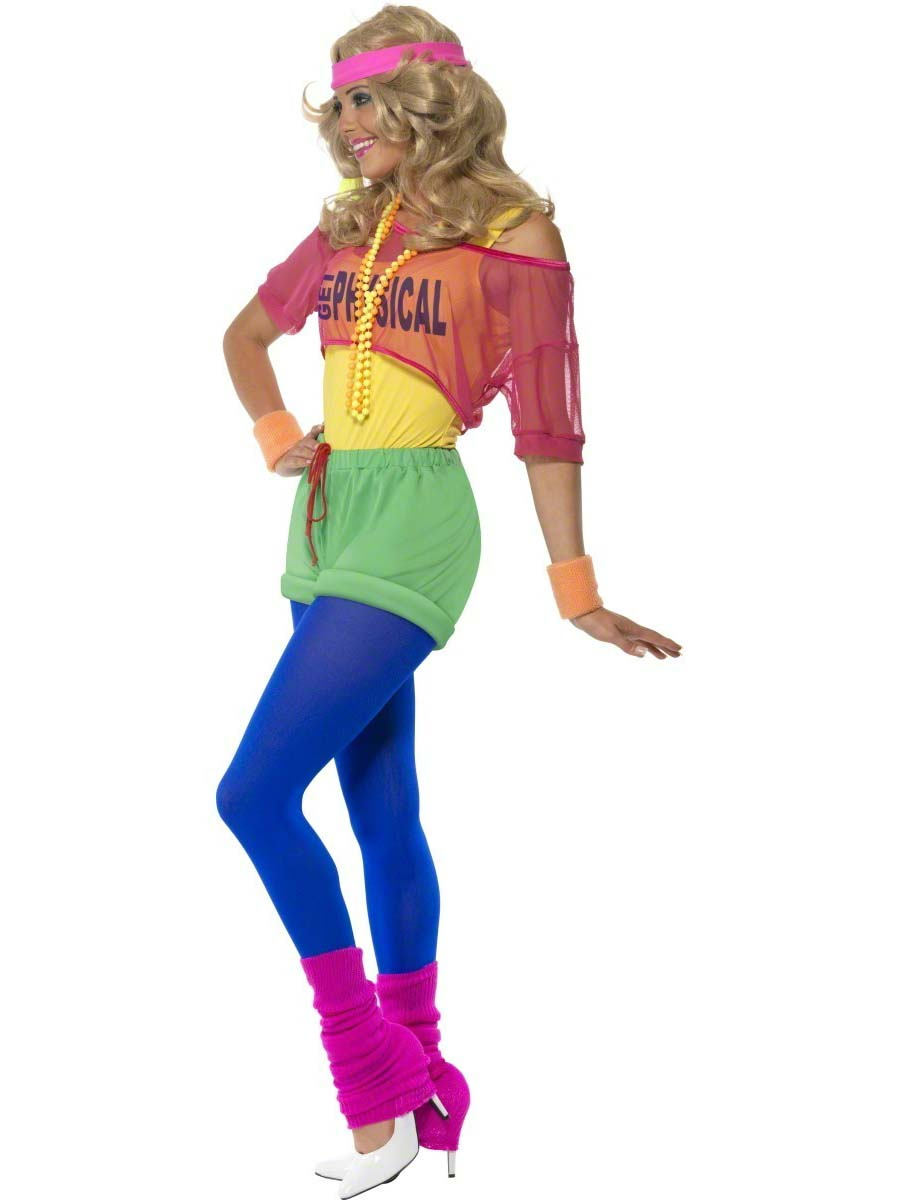 Adult 80 S Let S Get Physical Girl Costume 39465 Fancy Dress Ball