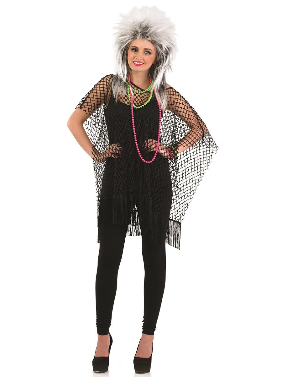 Adult 80u0027s Neon Black Long Mesh Top  sc 1 st  Fancy Dress Ball & Adult 80u0027s Neon Black Long Mesh Top - FS3790 - Fancy Dress Ball