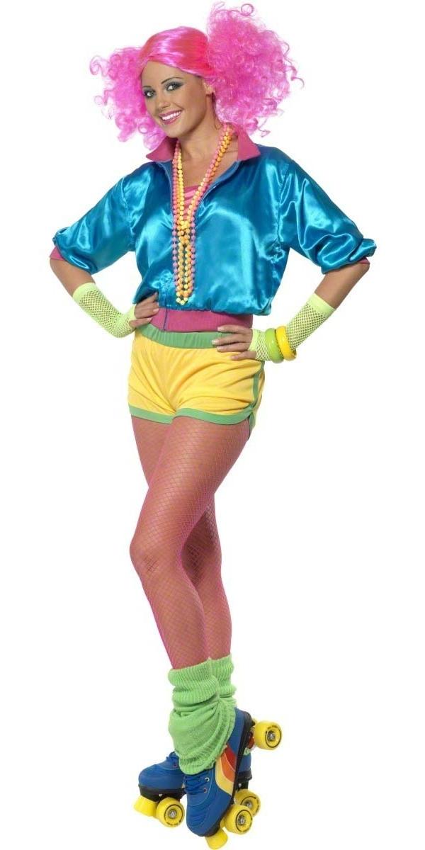 Adult 80s Neon Skater Girl Costume 39464 Fancy Dress Ball