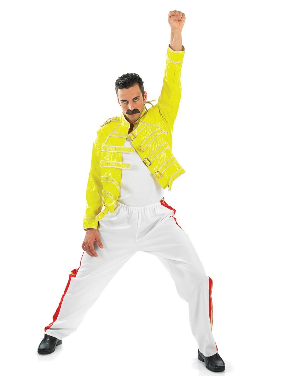 Adult 80u0027s Freddie Mercury Rock Legend Costume  sc 1 st  Fancy Dress Ball & Adult 80u0027s Freddie Mercury Rock Legend Costume - FS2282 - Fancy ...
