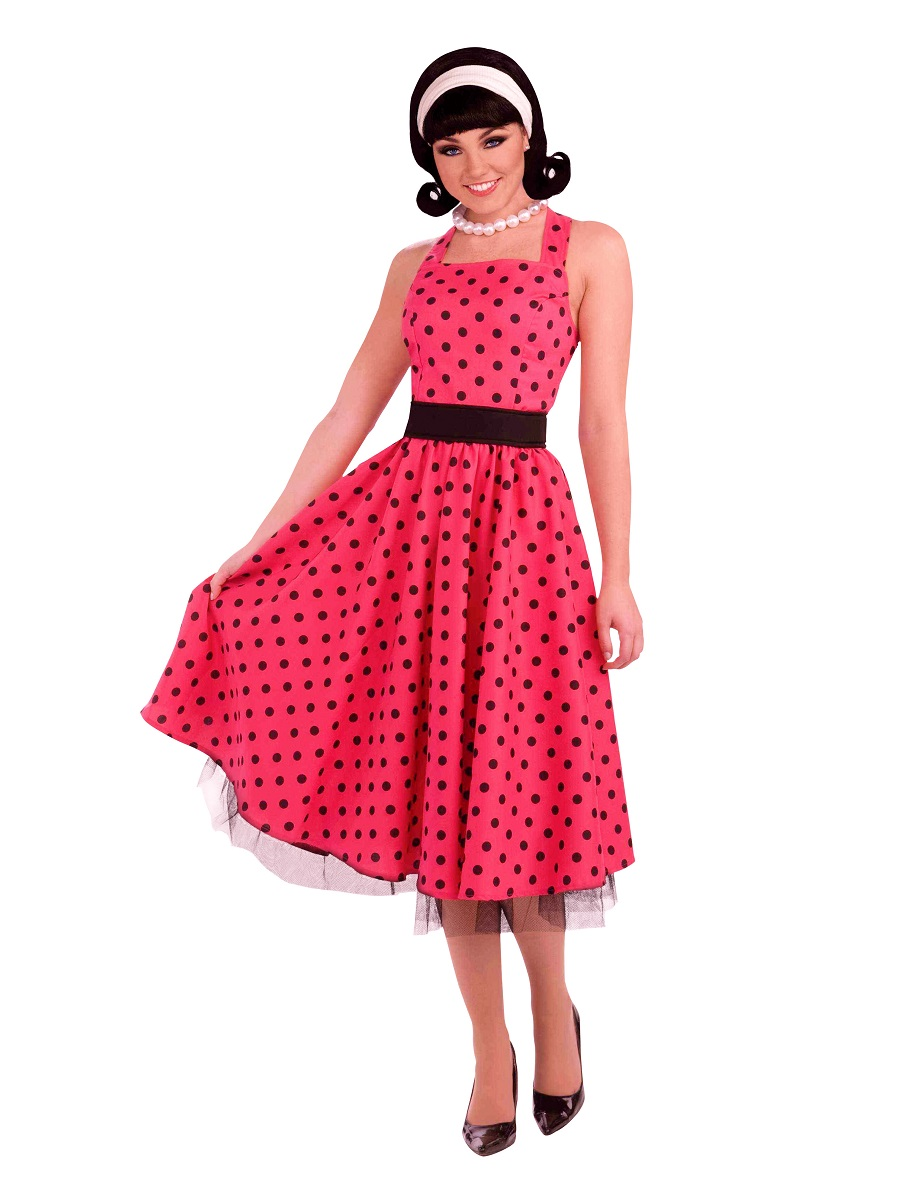 Adult 1950s Pretty In Polkadots Costume Ac530 Fancy