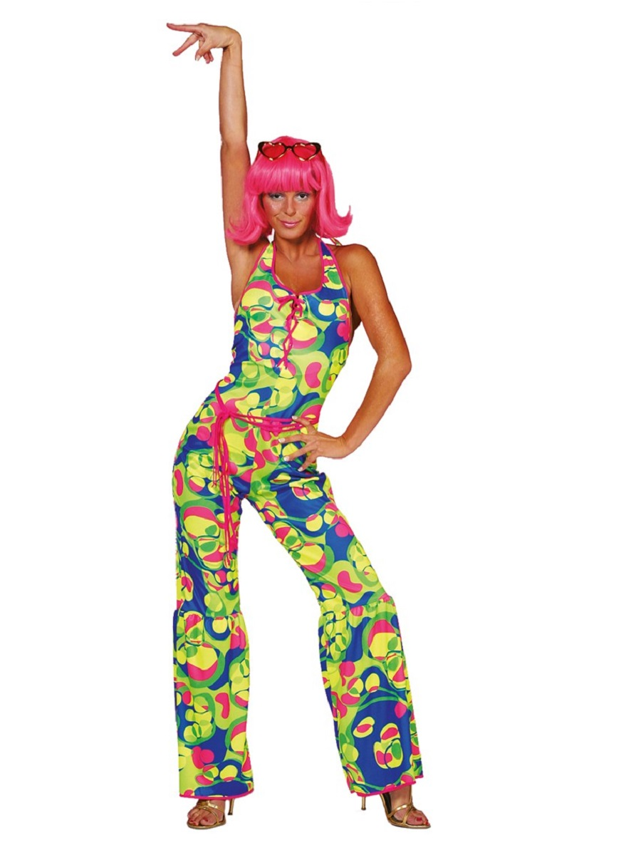 adult 70s neon catsuit costume 4539 fancy dress ball. Black Bedroom Furniture Sets. Home Design Ideas