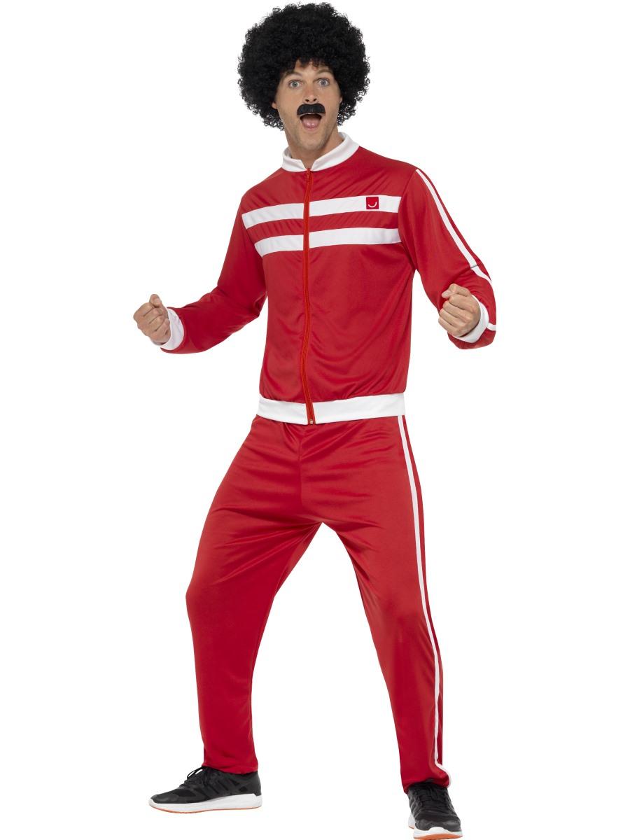 Adult 80s Scouser Tracksuit Costume - 45521 - Fancy Dress Ball