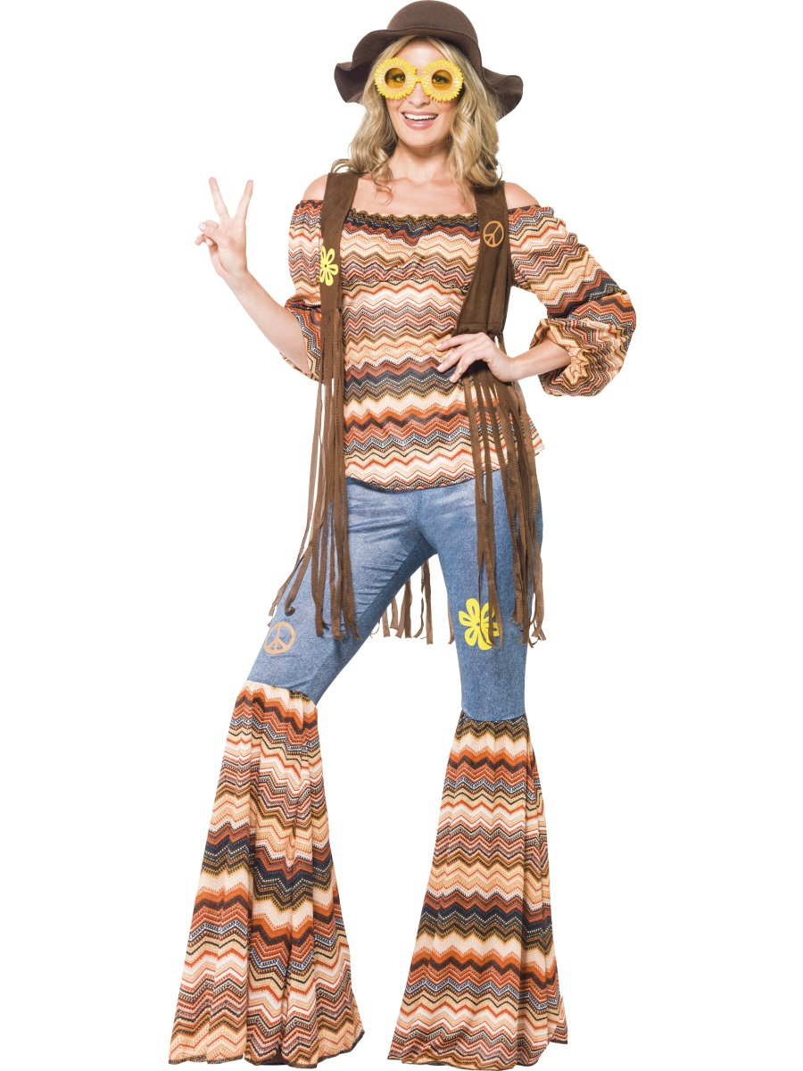 adult harmony hippie costume 43856 fancy dress ball. Black Bedroom Furniture Sets. Home Design Ideas