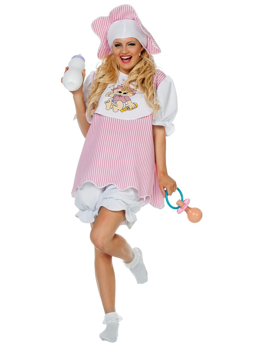 Adult Baby Girl Costume - 4587 - Fancy Dress Ball