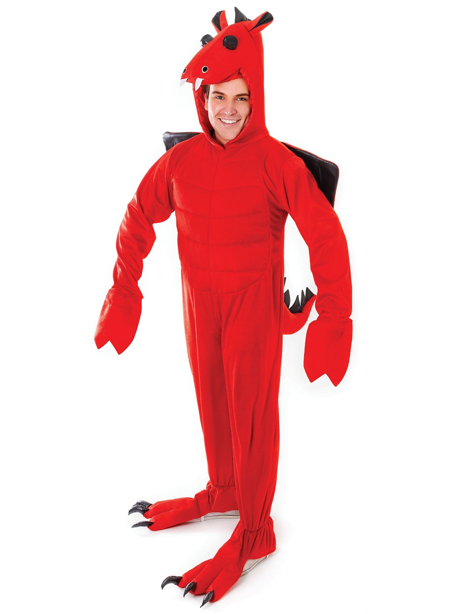 Dragon Ball z Halloween Costumes For Adults Adult Red Dragon Costume