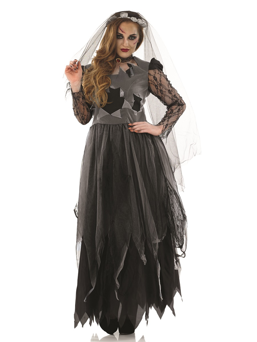 adult black corpse bride costume fs3054 fancy dress ball. Black Bedroom Furniture Sets. Home Design Ideas