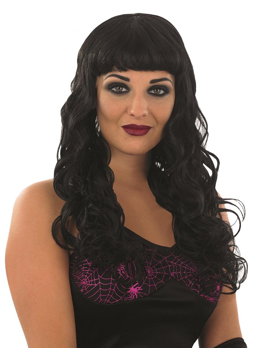Adult Black Temptress Wig Fs2871 Fancy Dress Ball