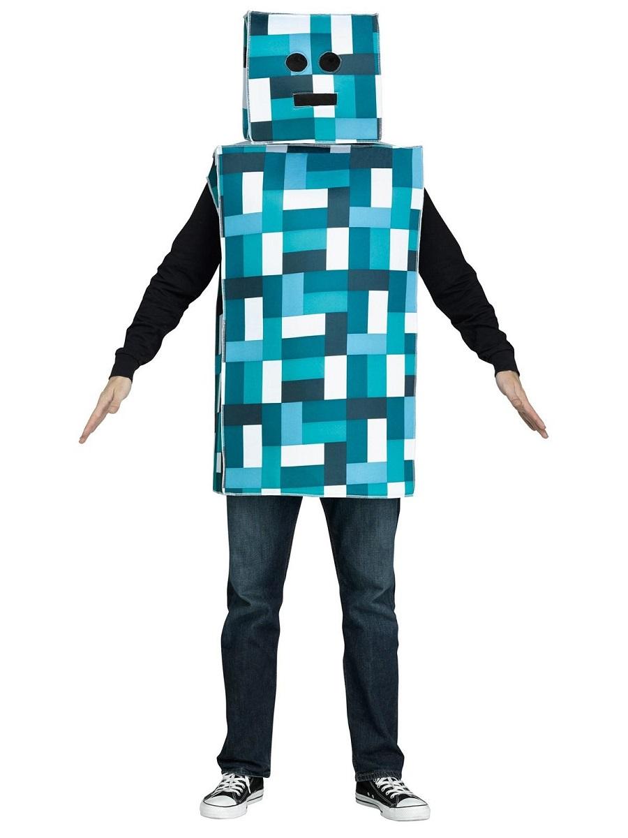 Adult Blue Pixel Robot Costume 3132a Fancy Dress Ball