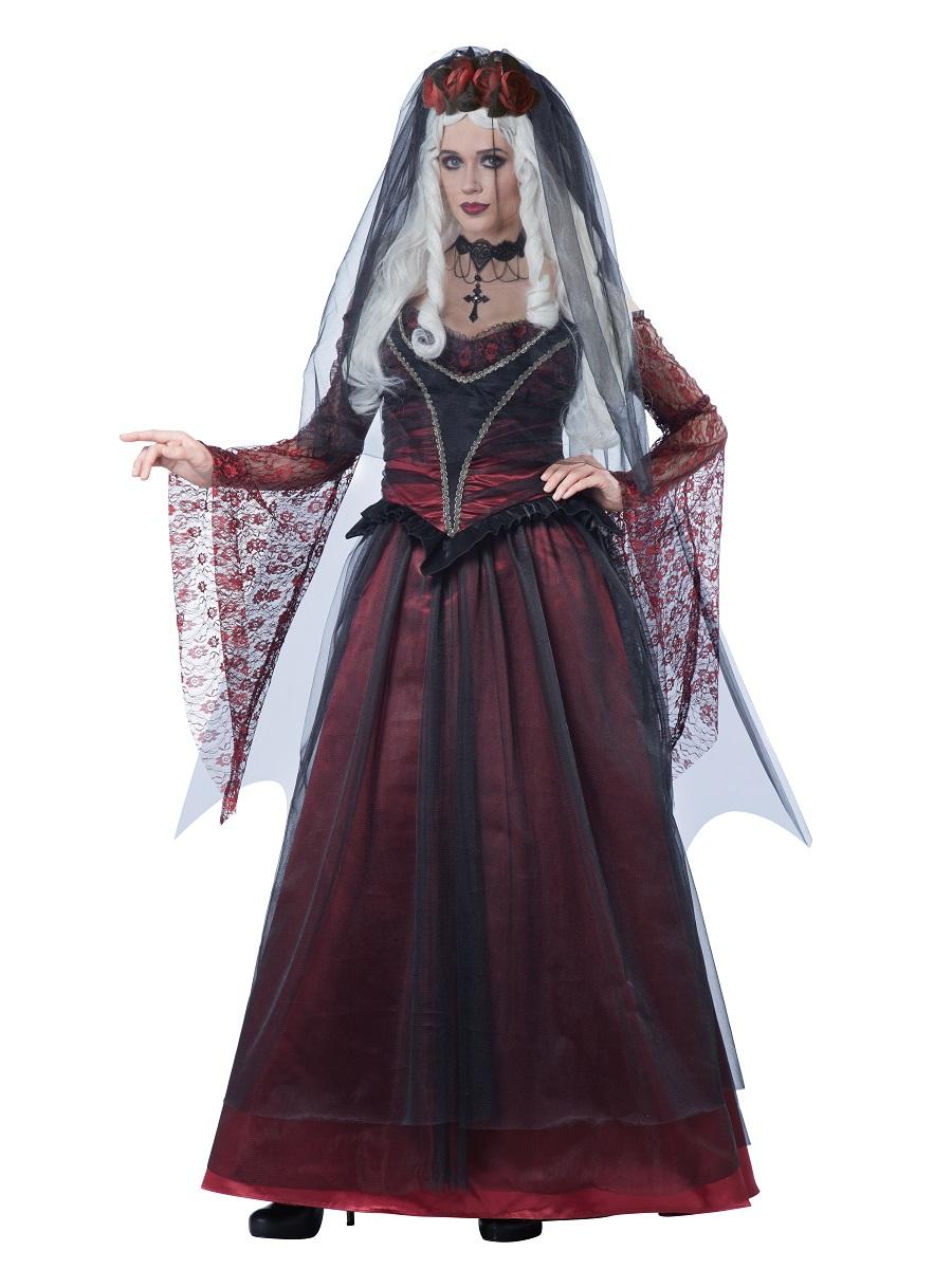 Immortal Vampiress Costume Vampire Halloween Womens Ladies Fancy Dress Outfit
