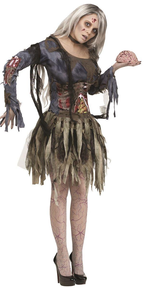 Adult Zombie Lady Costume 114534 Fancy Dress Ball