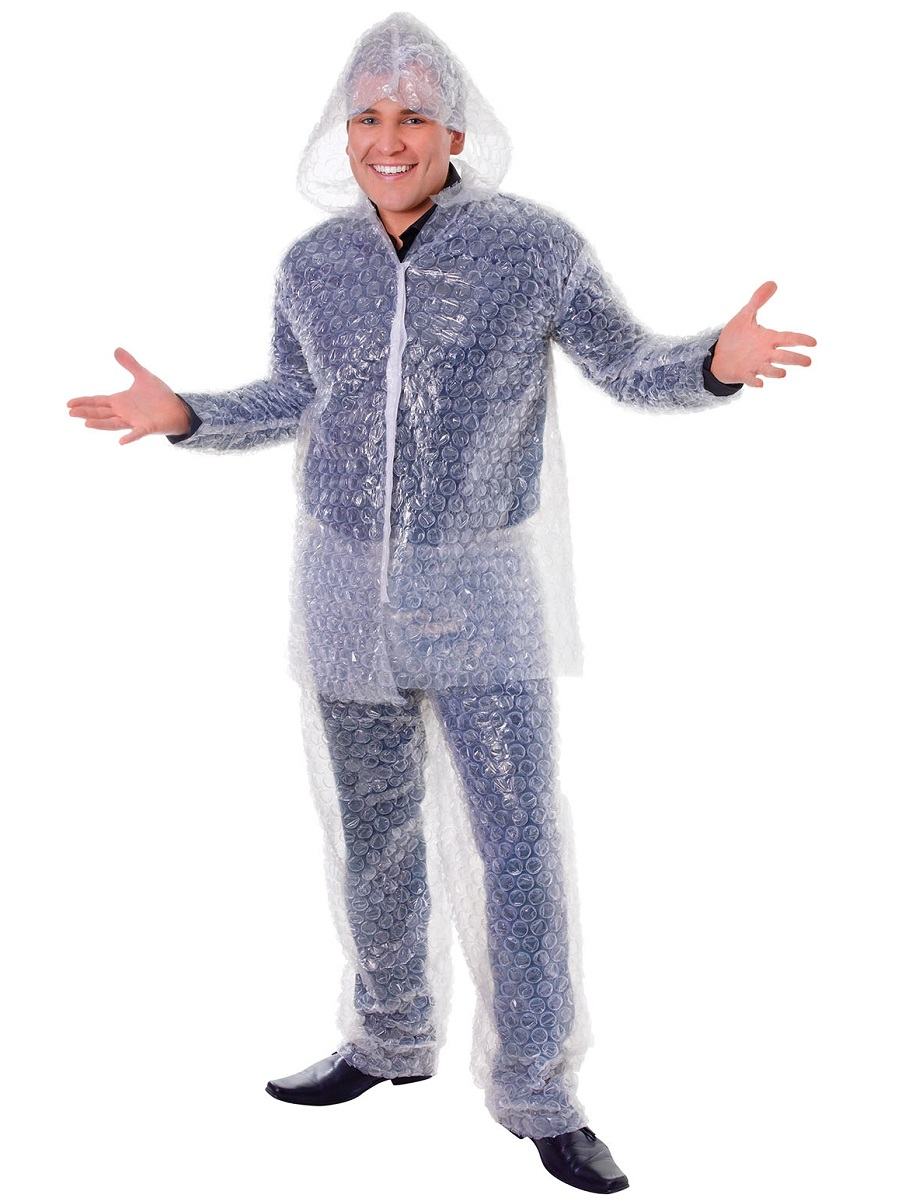 Adult Bubble Wrap Costume Ac570 Fancy Dress Ball