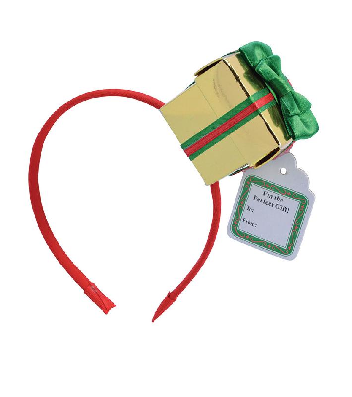 Christmas Headband Png.Adult Christmas Gift Box Headband
