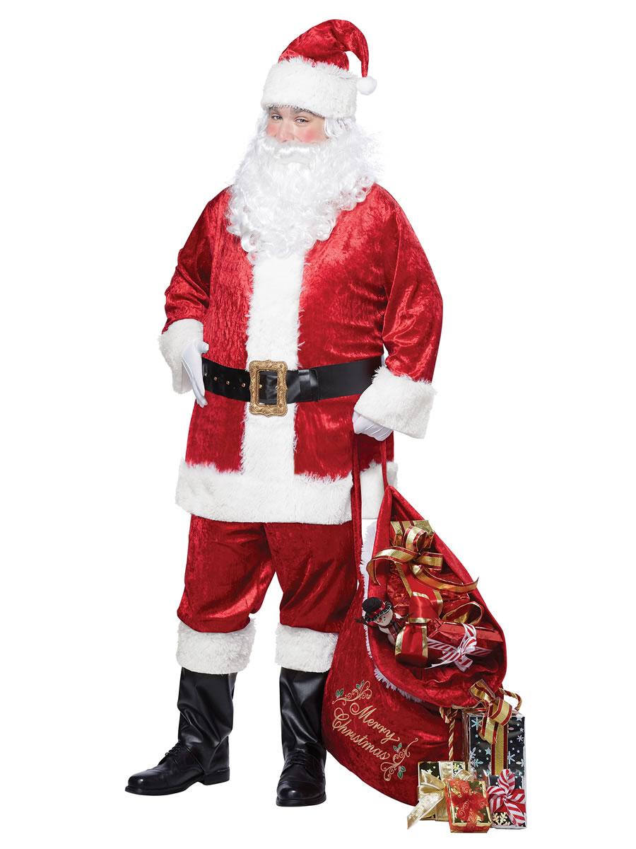 Adult classic santa suit costume  fancy dress ball