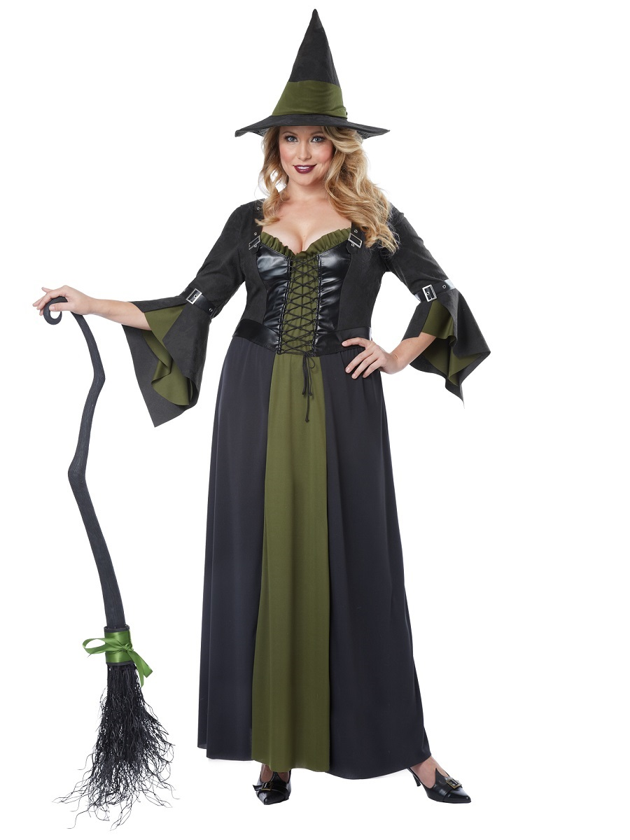 Adult Classic Witch Plus Size Costume  sc 1 st  Fancy Dress Ball & Adult Classic Witch Plus Size Costume - 01734 - Fancy Dress Ball