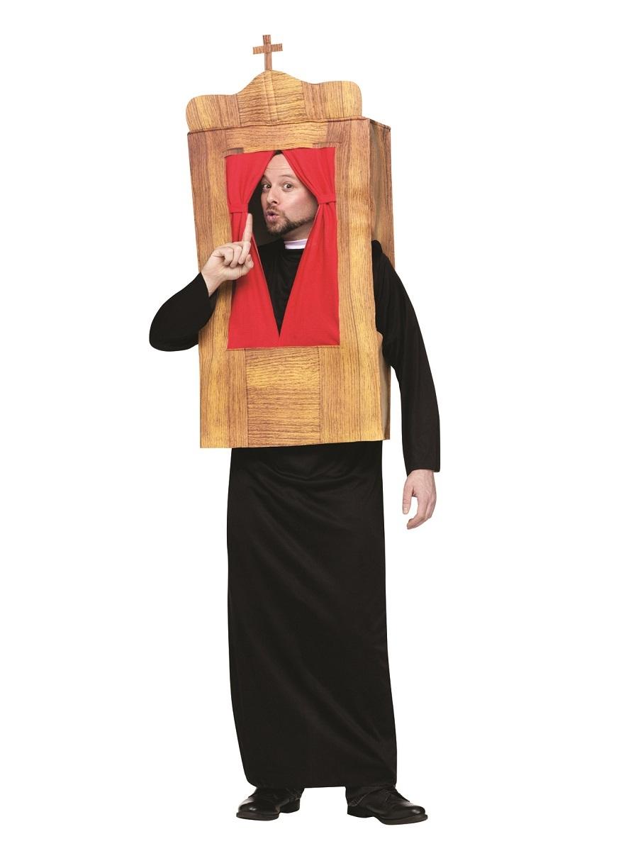 adult confessional priest costume 131184 fancy dress ball. Black Bedroom Furniture Sets. Home Design Ideas