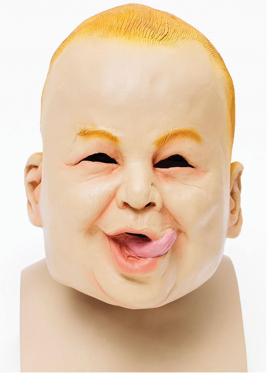 adult costume mask baby face