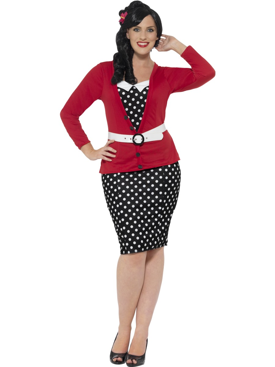 27f95d29a6892 Adult Curves 50's pin Up Costume - 24455 - Fancy Dress Ball