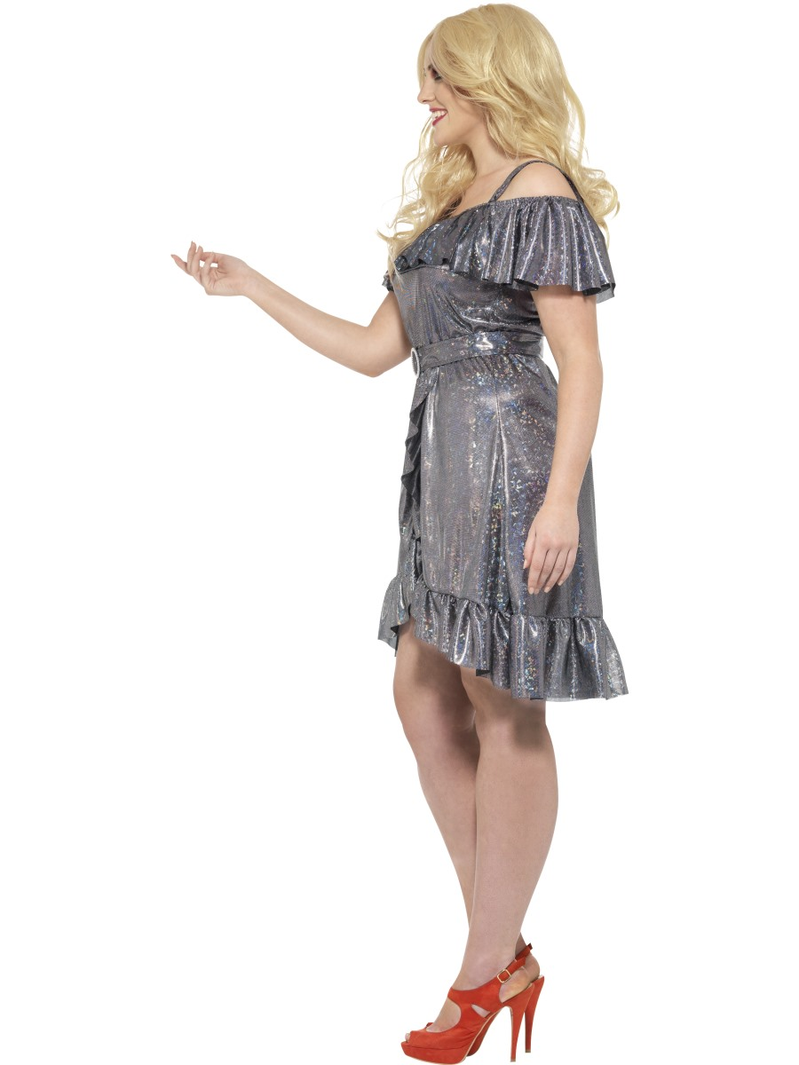 adult plus size curves 70s disco diva costume  24342