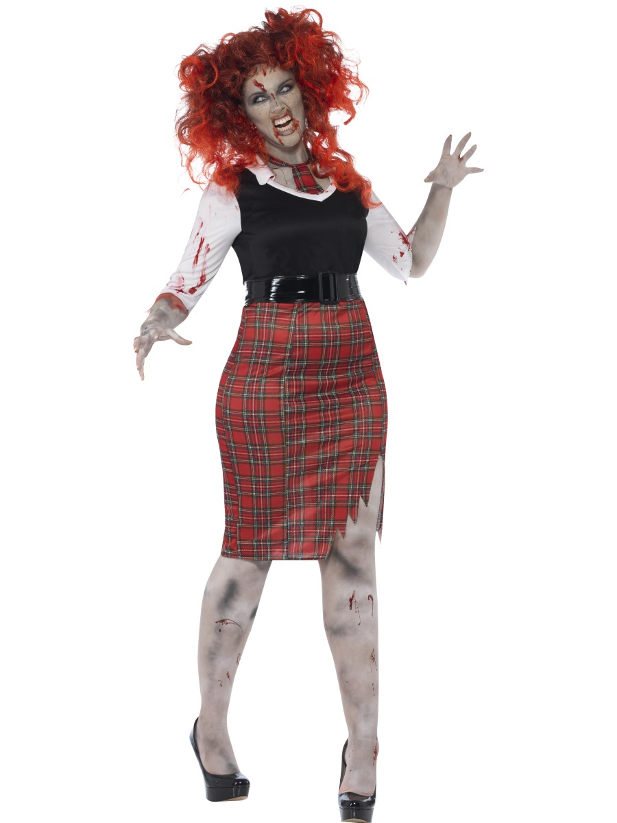 e5c9279e5 Adult Curves Zombie School Girl Costume - 44350 - Fancy Dress Ball