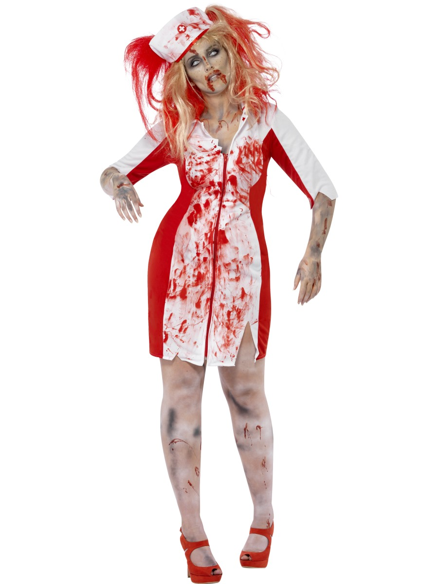 adult curves zombie nurse costume - Halloween Costumes Of Zombies