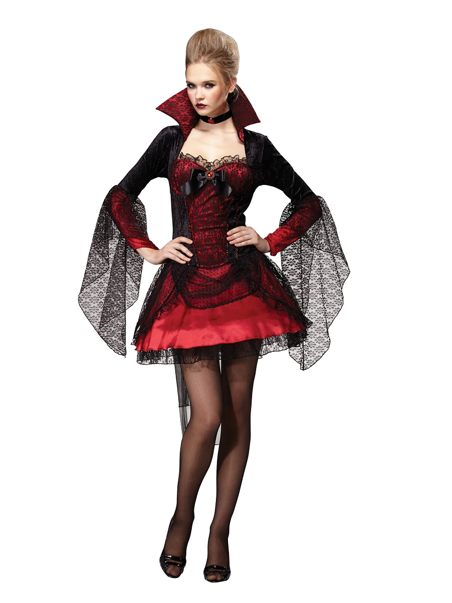 Adult Dark Mistress V&iress Costume  sc 1 st  Fancy Dress Ball & Adult Dark Mistress Vampiress Costume - AC087 - Fancy Dress Ball