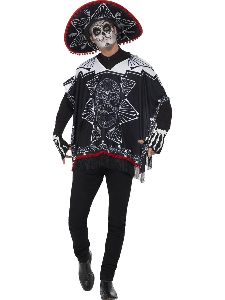 Adult Day Of The Dead Bandit Costume