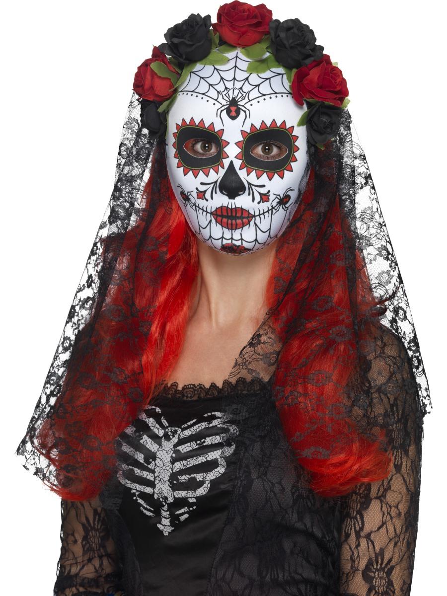 Adult Day Of The Dead Senorita Mask