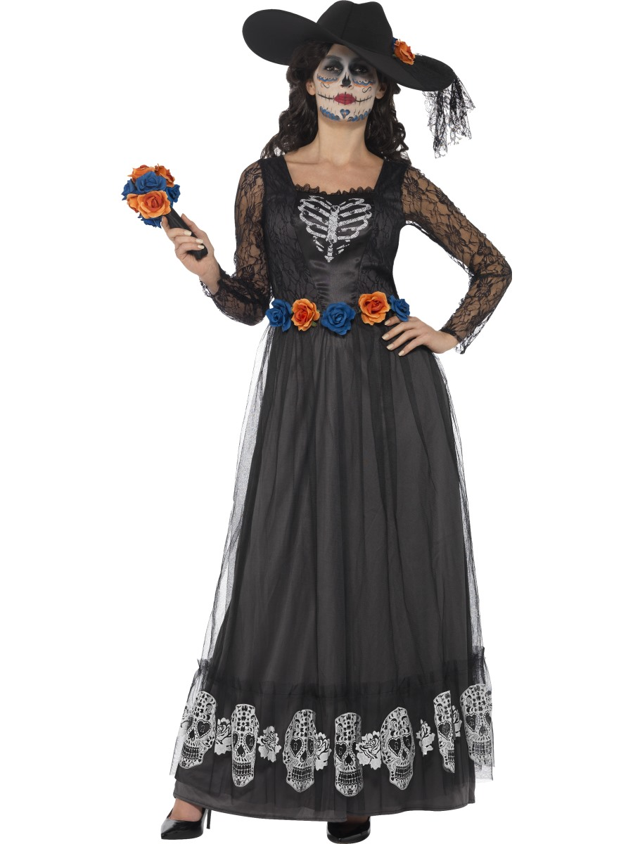 adult day of the dead skeleton bride costume - 44944 - fancy dress ball