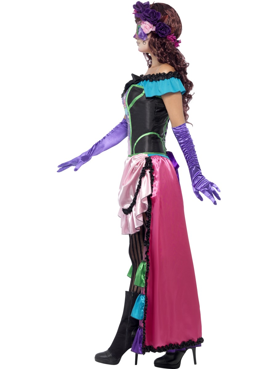 Adult Sugar Skull Costume 44005 Fancy Dress Ball