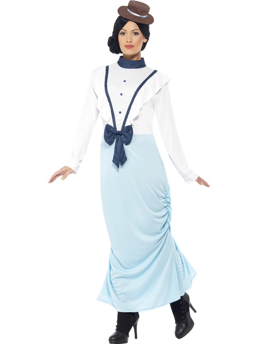 White apron fancy dress - Adult Posh Victorian Lady Costume