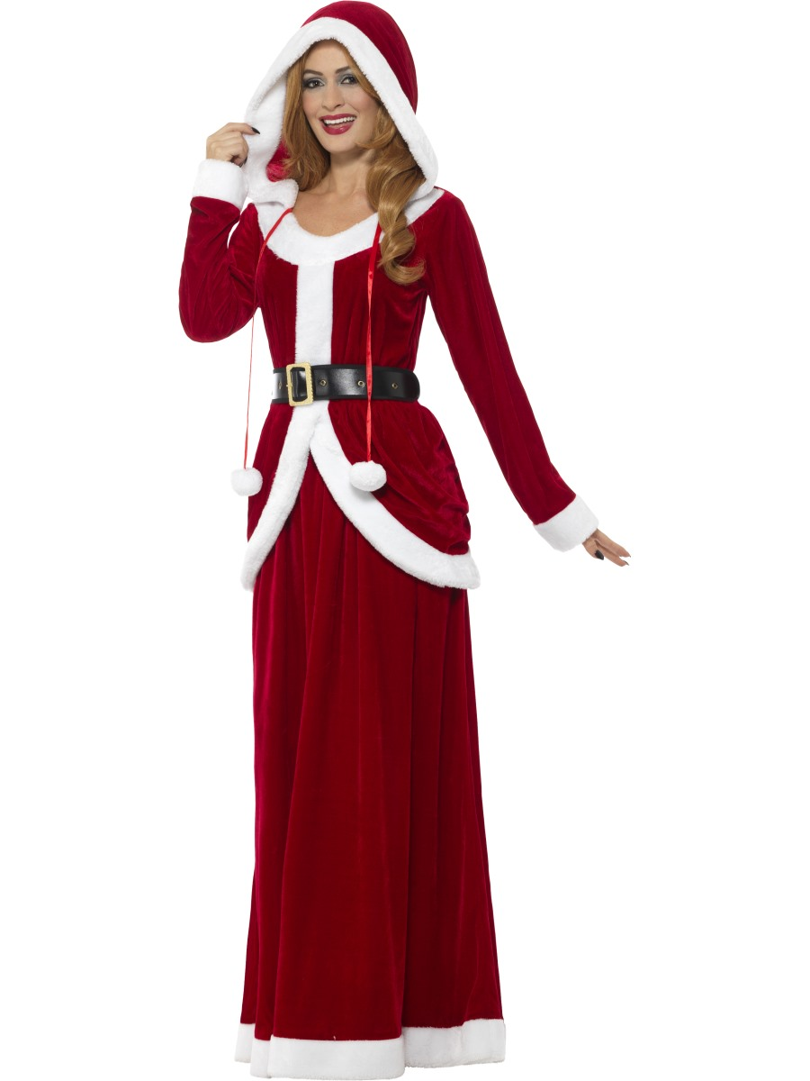 Adult deluxe ms claus costume  fancy dress ball