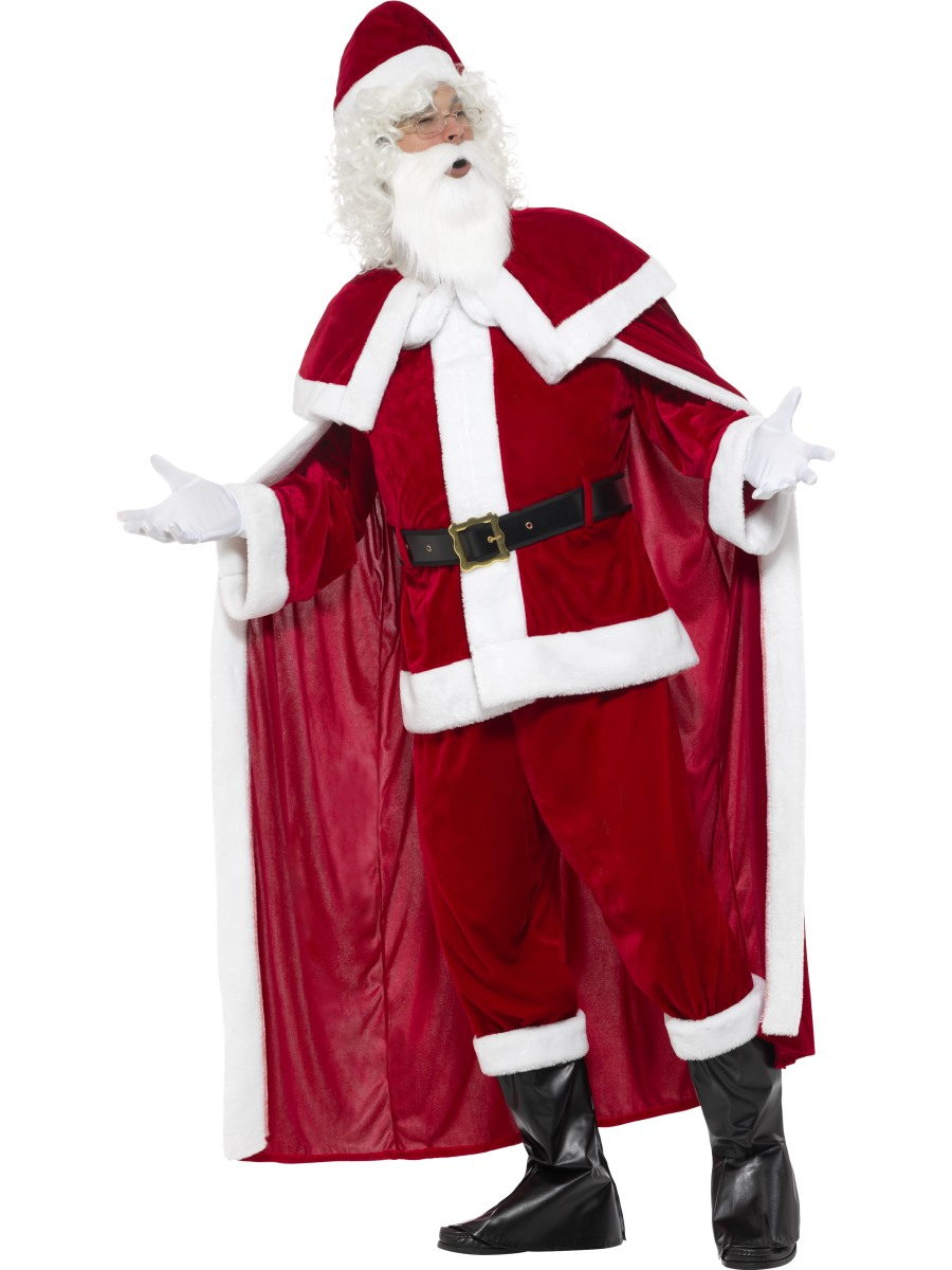 Adult deluxe santa claus costume  fancy dress ball