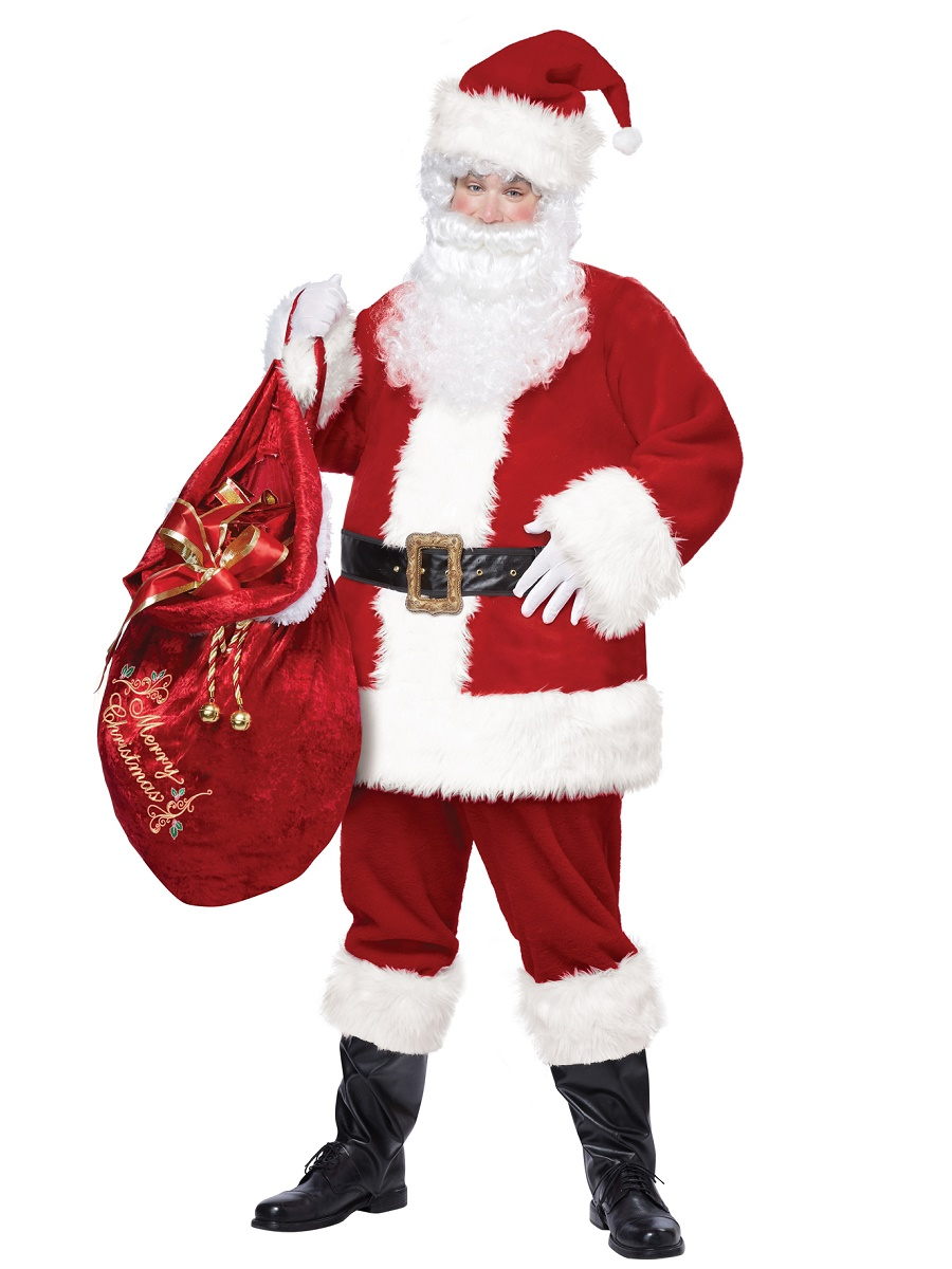 Adult deluxe santa suit costume  fancy dress ball