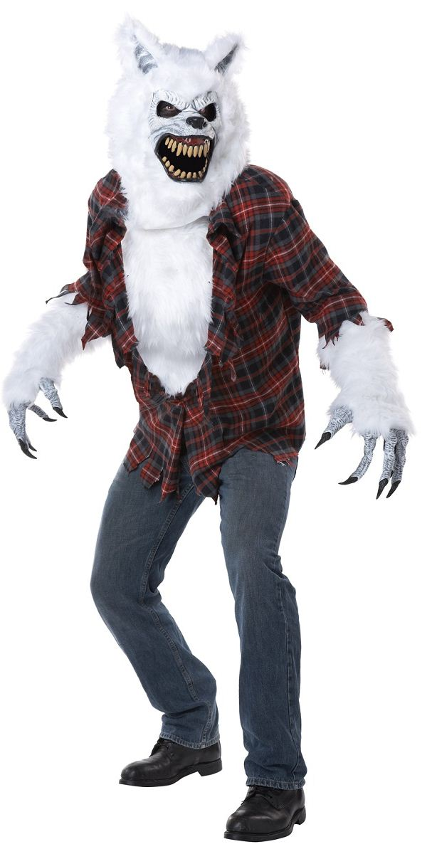 Werewolf Toys For Boys : Adult deluxe white lycan werewolf costume  fancy