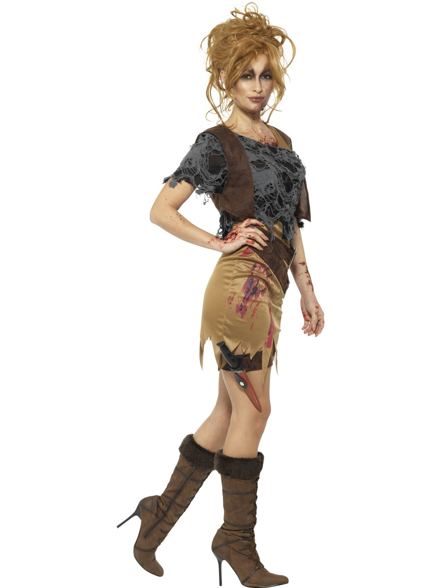 adult deluxe zombie huntress costume - 46848 - fancy dress ball