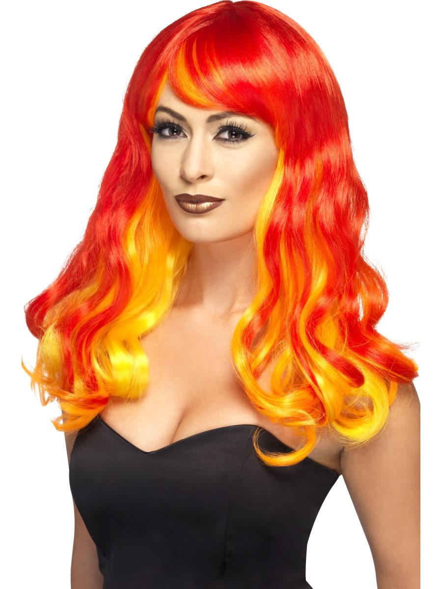 Adult Devil Flame Siren Ombre Wig 44258 Fancy Dress Ball