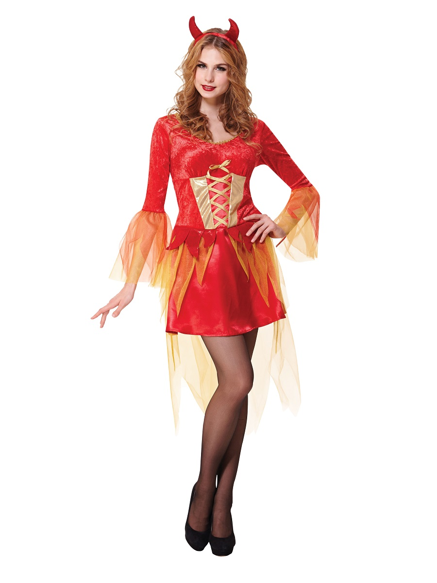 Adult Devil Maiden Costume Ac658 Fancy Dress Ball