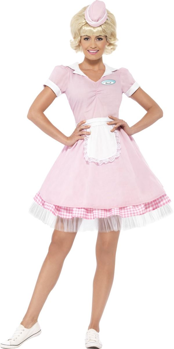 Adult 50s Diner Girl Costume 43183 Fancy Dress Ball